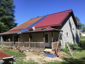 Elkhart IN Standing Seam Metal Roof In Progress